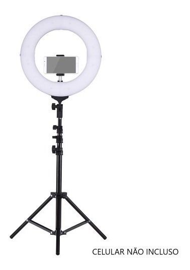 Ring Light Completo Iluminador Portátil 26cm Com Tripé