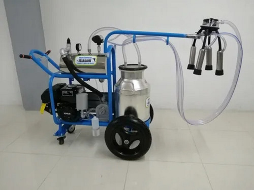 Imagen 1 de 3 de Ordeñadora Transportable De Una Vaca Con Motor De Gasolina