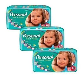 Fralda Infantil Personal Mega 6 Pacotes Mega Tamanho Xg Nova
