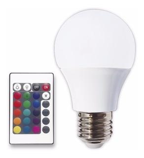 Lámpara Bulbo Led E27 Rgb 3 Watts Control Remoto Tbcin
