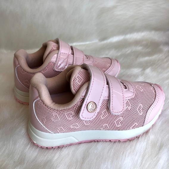 Tenis Baby Walk Rosa Menina Klin - 16623