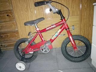 Bicicleta Rodado 12 Unibike Con Ruedas