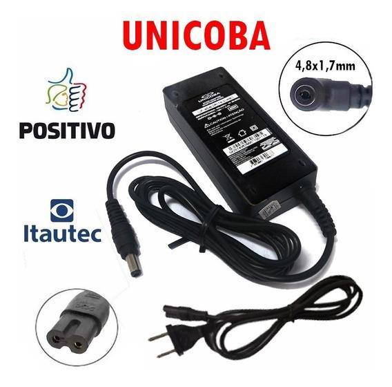 Carregador De Notebook Itautec 19v 2.1a A7520 Novo