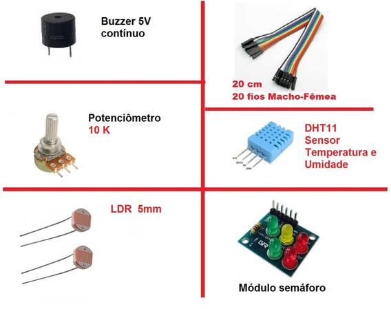 Kit Componente Pequeno De Arduino Esp32 8266 Semaforo Buzer