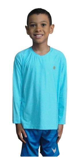 Camiseta Uv Infantil Proteção Solar, Praia, Piscina E Lazer