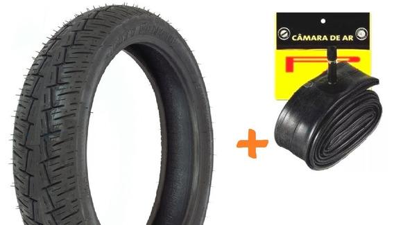 Pneu Traseiro + Camara Kansas 150 Pirelli City Demon 3.50-16