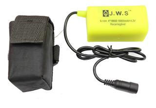 Bateria Farol Bike 4 Pack 4x 18650 Mah 4.2v Jws Prova Dágua