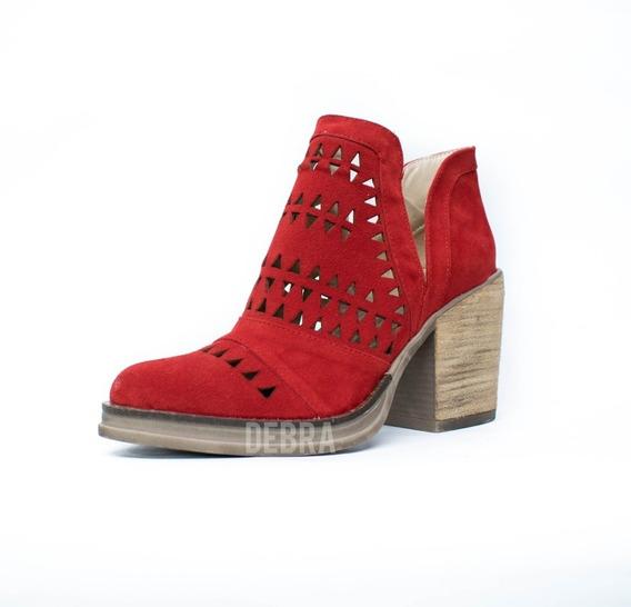 Zapatos Mujer Texanas Dama Caladas Con Plataforma Gamuza