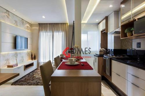 Apartamento Com 2 Dormitórios À Venda, 55 M² Por R$ 338.000,00 - Baeta Neves - São Bernardo Do Campo/sp - Ap0993
