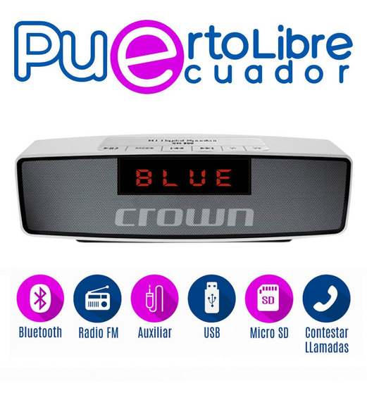 P O T E N T E Parlante Bluetooth + Usb + Radio Fm + Micro Sd