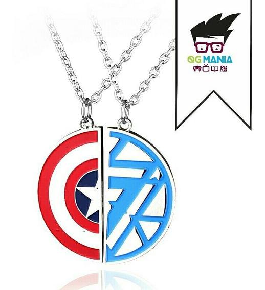 Colar Capitão América Homem De Ferro Best Friends Civil War