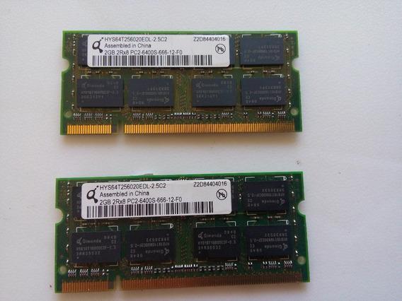Kit 2 Memoria Para Notebook Pc2 6400 2gb
