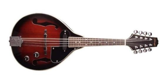 Mandolina Stagg M50e Tapa Pino Con Eq Color Redburst
