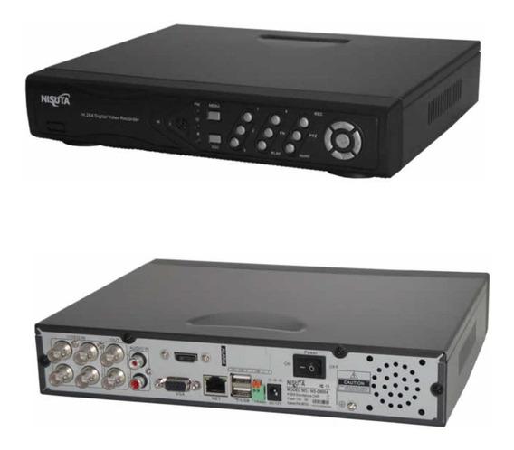 Dvr 4 Camaras Seguridad Nisuta Monitor Graba Audio Video Pro