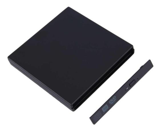 Case Para Gravador Dvd Externo 12,7 Ide Ou Sata (sem Dvd)