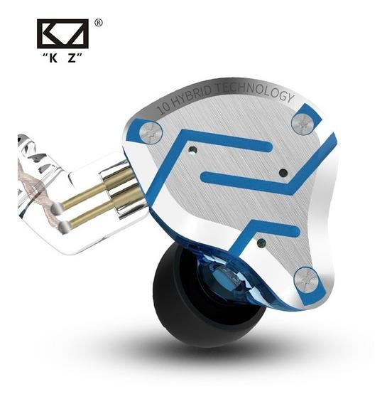 Fone Kz Zs10 Pro S/ Mc + Case Kz
