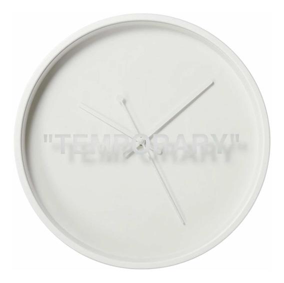Ikea X Virgil Abloh Reloj Blanco Original