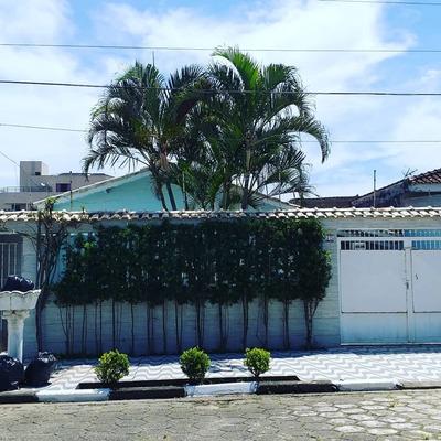 Casa Na Praia Com Piscina, Mongaguá Ref: 7348c