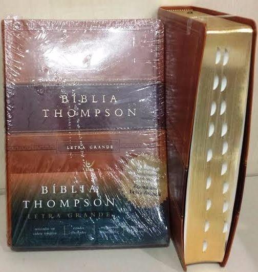 Bíblia De Estudo Thompson Grande Marrom Luxo+ Índice Digital
