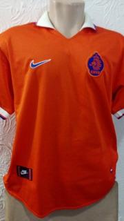 Camisa Holanda Laranja Nike G 1998 Importada Oficial Drifit