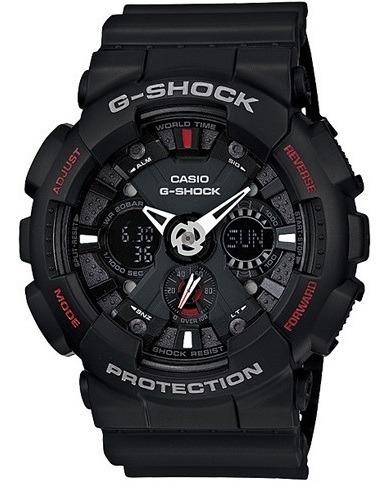 Relógio Casio G-shock Masculino Anadigi Preto Ga-120-1adr