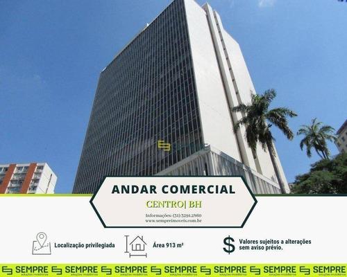 Imagem 1 de 27 de Andar Corporativo Para Alugar, Vão Livre, 913 M² - Centro - Belo Horizonte/mg - Ac0056