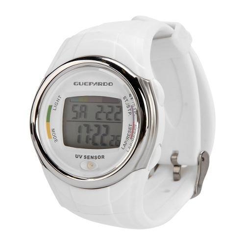 Relógio Guepardo Sensor Uv - Master White - Mostruário