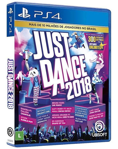 Just Dance 2018 - Ps4 - [ Mídia Física Lacrada E Original ]