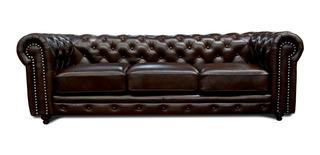 Sofa Piel Genuina - Chesterfield - Conforto Muebles
