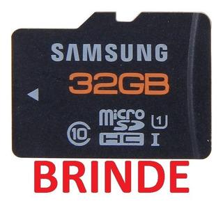 Cartão Memória Microsd Samsung Plus 32gb Classe10 Uhs Brinde