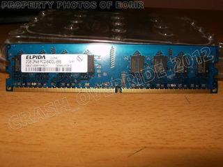 Memoria Ram Elpida 2gb 800mhz Ddr2 2gb 2rx8 Pc2-6400 Para Pc