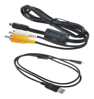 Usb + A V Tv Cable Flex Para Panasonic Lumix Dmc-fz28 Fz18 F