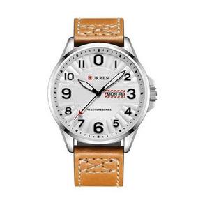 Relógio Masculino Curren Analógico 8269 - Prata E Branco