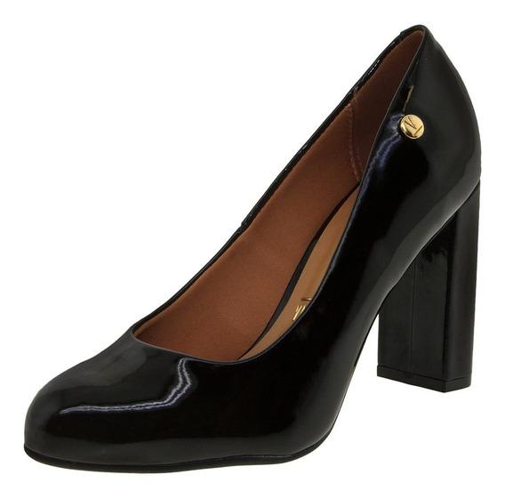 Sapato Feminino Salto Alto Verniz/preto Vizzano - 1260100