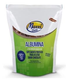 Albumina Maxxi Ovos Chocolate 500g 83% Proteína Baixo Sódio