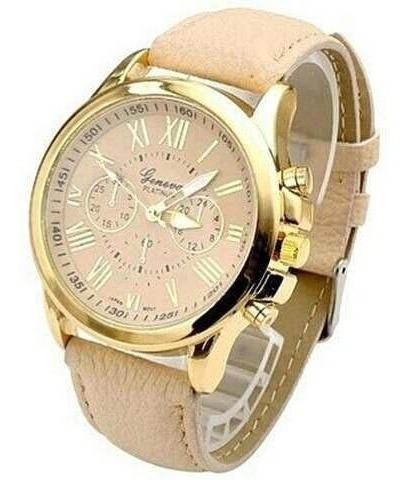 Relógio Feminino Para Revenda Branco Rose Dourado Atacado
