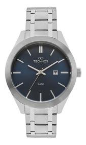 Relógio Technos Prateado Masculino Classic Steel 2115mnr/1a