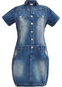 Vestido Jeans Frete Grátis