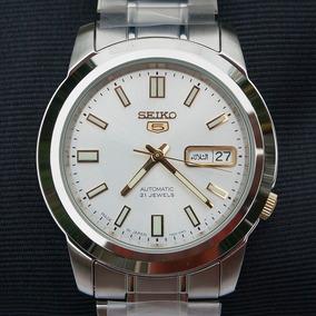 Relógio Seiko 5 Japan Automático Snkk09j1 Fundo Prata