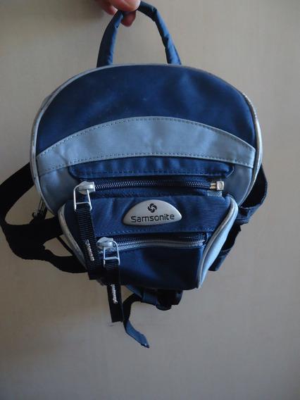 Bolsa Pochete Original Samsonite Azul Usada