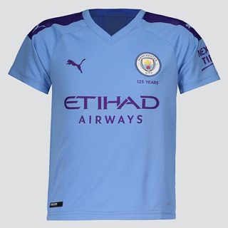 Camisa Puma Manchester City Home 2020 Juvenil