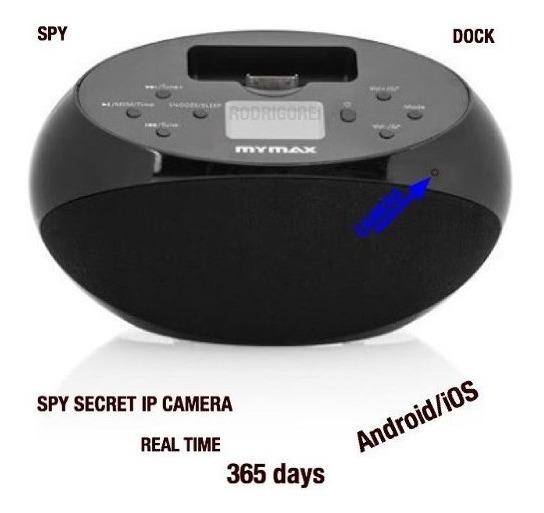 Dock Station Espiao Wi Fi Tempo Real Veja No Seu Celular Spy