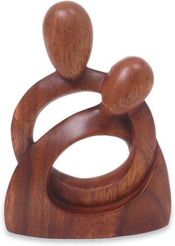 Novica Romantic Wood Sculpture, Marr¦n,   Tall  Eternit...