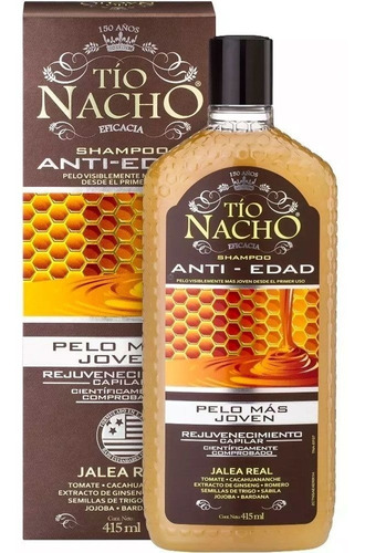 Imagen 1 de 1 de Tío Nacho Shampoo Anti-edad 415 Ml.