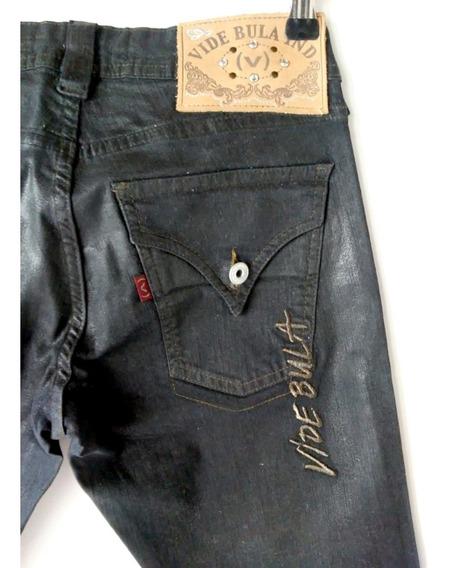 Calça Jeans Vide Bula 38 Feminina Emborrachada Oferta Promo