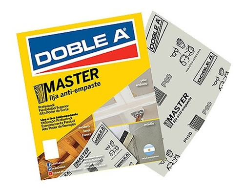 Lija Master Anti Empaste Doble A Pack X 50 Mm