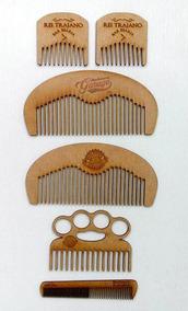 Kit 30 Pentes Personalizado Com Logo Para Barbearia Chaveiro