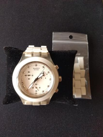 Relógio Feminino Swacth Irony Diaphane Branco