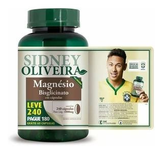 Magnésio Bisglicinato 1000 Mg-sidney Oliveira Leve 240 Cps