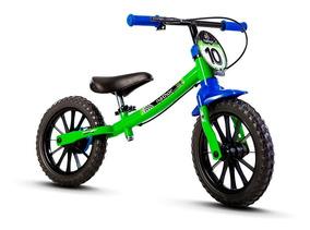 Bicicleta Equilíbrio Balance Bike Sem Pedal Nathor Verde